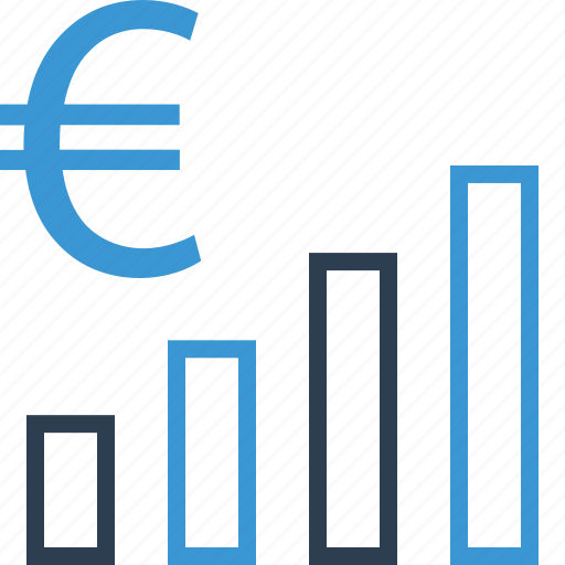 Bars, euro, money, sign icon - Download on Iconfinder