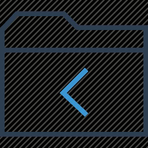 archive, backwards, left icon