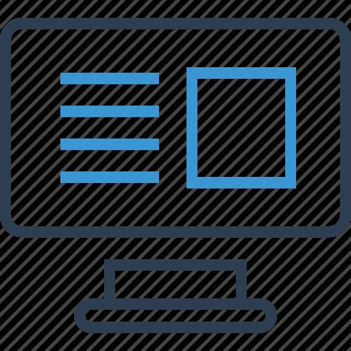 internet, mac, online, wireframe icon
