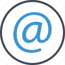at, contact, seo, sign icon