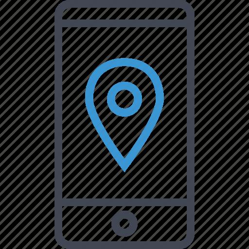 gps, location, mobile, seo icon