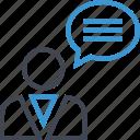 chat, profile, seo, user icon