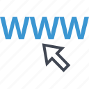 arrow, seo, web, www icon