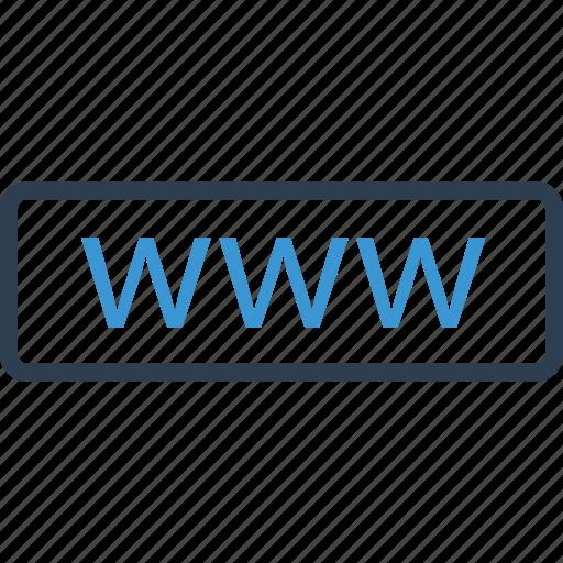 internet, presence, visit icon