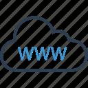cloud, online, web, www icon