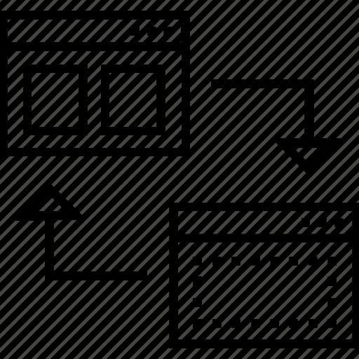 design, layout, share, web layout, wireframe design icon