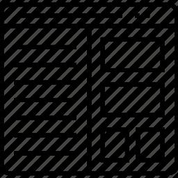 grid, layout, split screen layout, webgrid, website icon