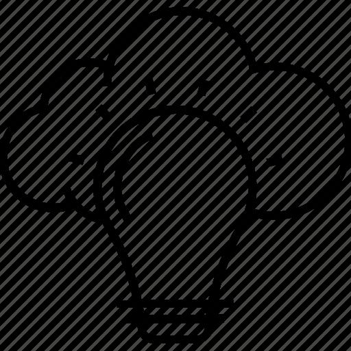 big idea, cloud computing, icloud, ideas, innovation icon