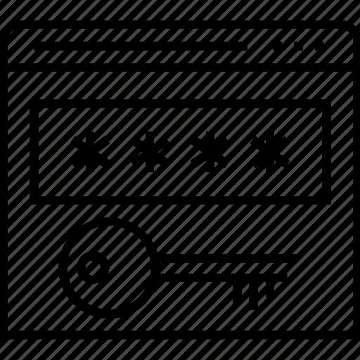encryption key, key, password, sign in icon