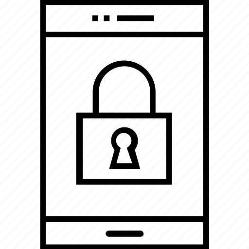 app, lock, protection, security, smartphone protection icon