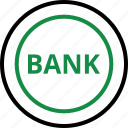 bank, banking, business, coin, money, online, web icon