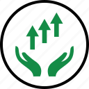approved, arrow, good, hand, hands, ok, up icon