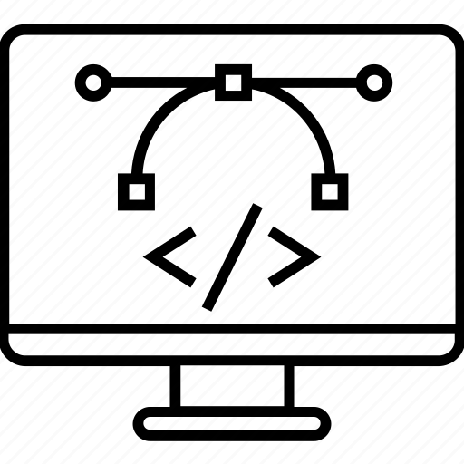 bezier tool, design and coding, development, graphic design, pen tool icon