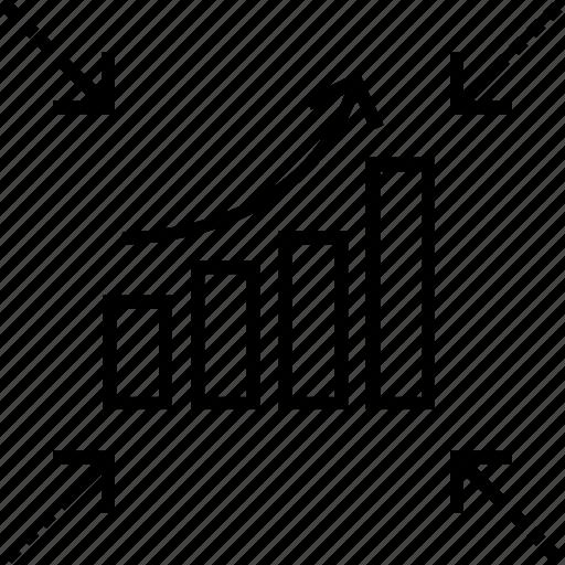 bar graph, growth, growth traffic, traffic, website traffic icon