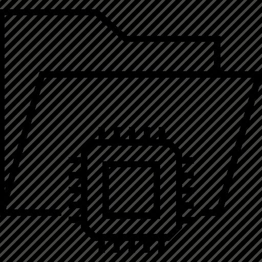 data, e commerce web page, folder, processor, technology icon