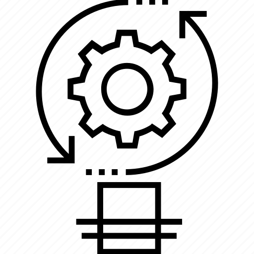 cogwheel, idea, idea generation, seo, synchronization icon