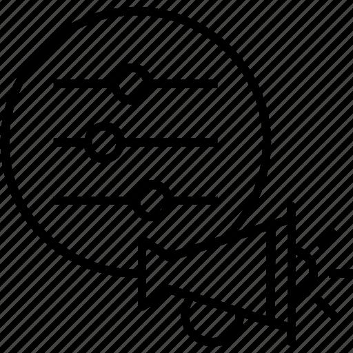 bullhorn, campaign, control panel, settings, setup campaign icon