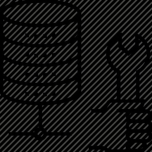 data, data management, preferences, server, spanner icon
