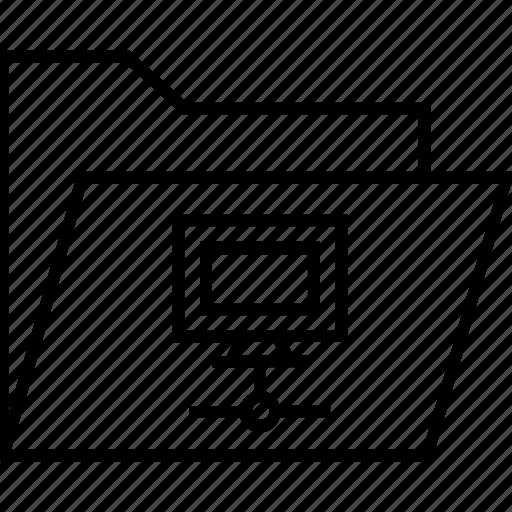 computing, data, data folder, folder, share icon