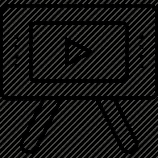 media, movie, presentation, recorder, video presentation icon