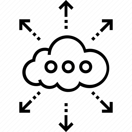 cloud, cloud computing, cloud service, network, share icon