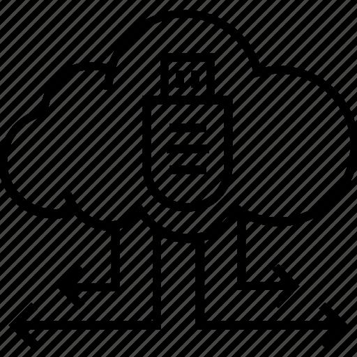 cloud, cloud computing, cloud storage, share, storage icon
