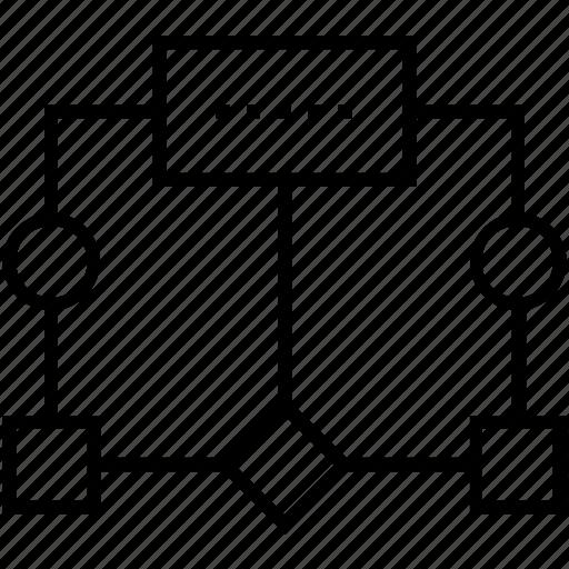 flow, flow diagram, flow network, seo, sitemap icon