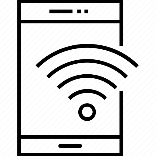 communication, device, phone, wifi, wireless icon