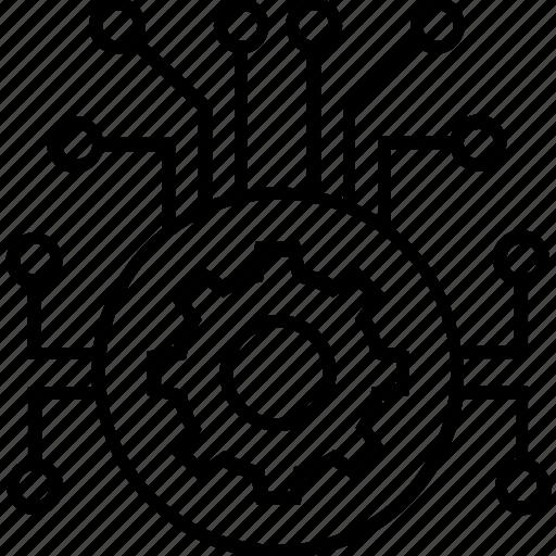 cogwheel, data, data management, network, preferences icon