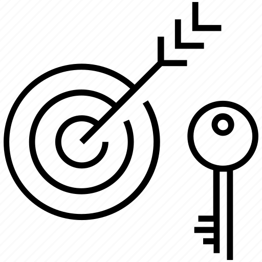 aim, bullseye, goal, target, target keyword icon