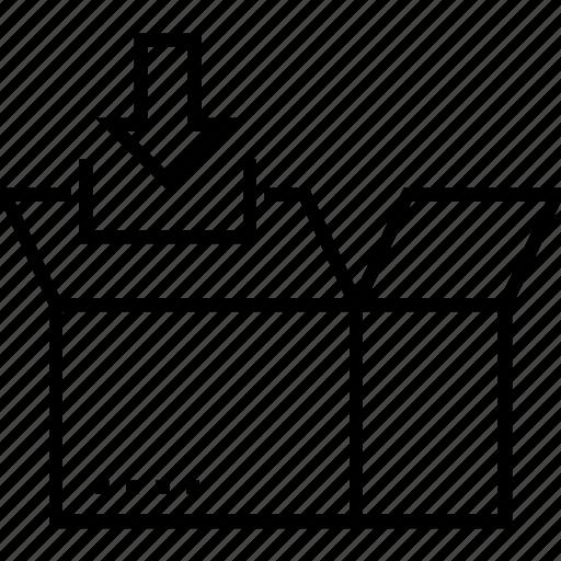box, data, data storage, drive, save icon
