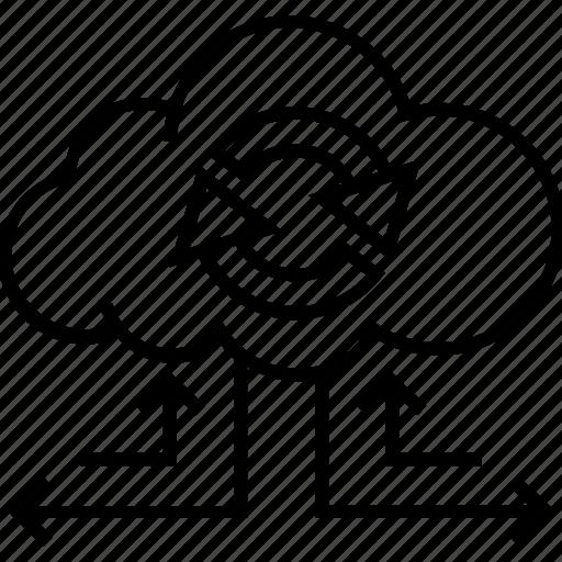 backup, backup recovery, data, process, sync icon