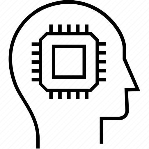 artificial, brain, chip, intelligence, processor icon