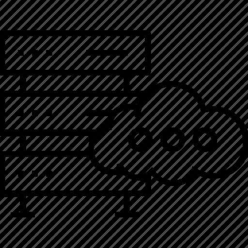 cloud, computing, database, hosting, web hosting icon