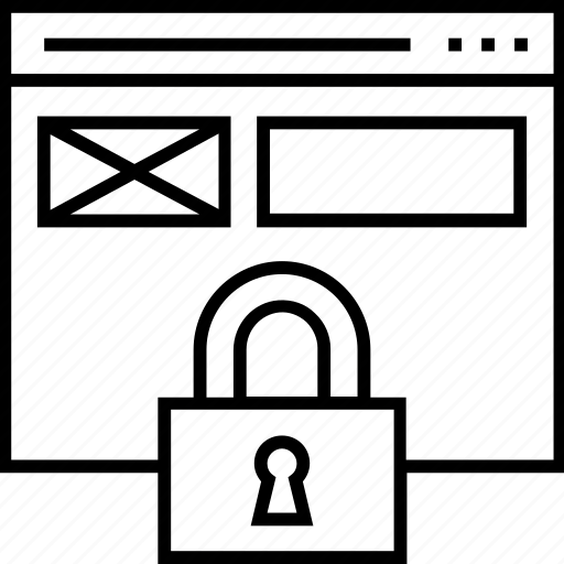 lock, padlock, protection, web protection, web security icon