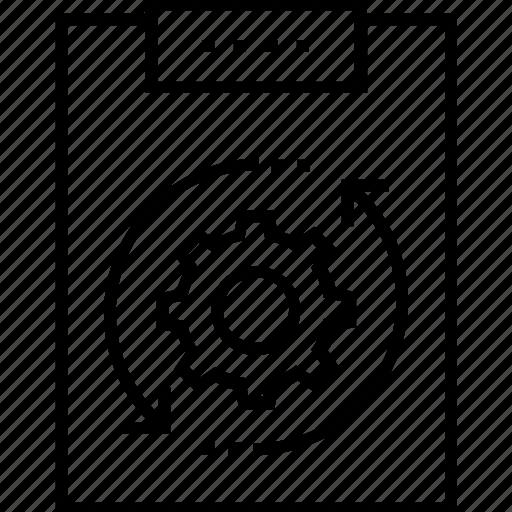 analysis, clipboard, process, seo, task analysis icon