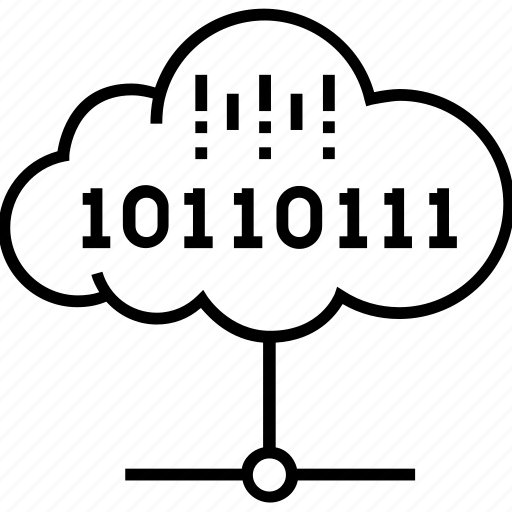 binary, cloud computing, coding, connection, share icon