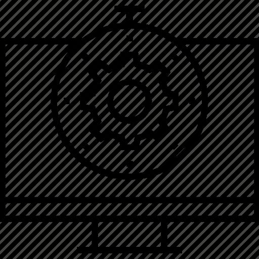 chronometer, cogwheel, stopwatch, timer, website optimization icon