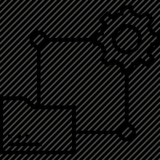 cogwheel, configure, data, data processing, storage icon