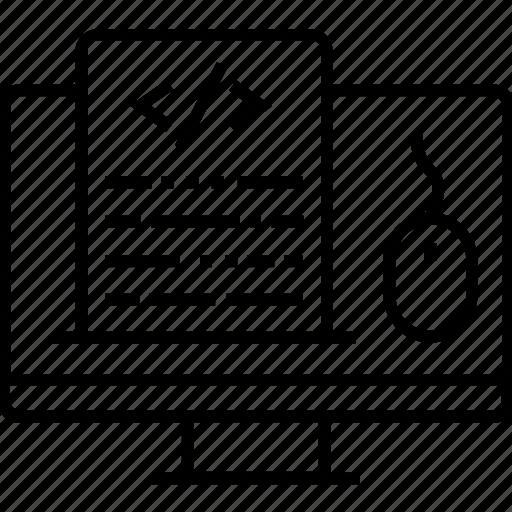 development, div, file, programming, web code icon