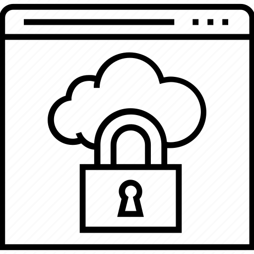cloud, data protection, lock, web, web protection icon