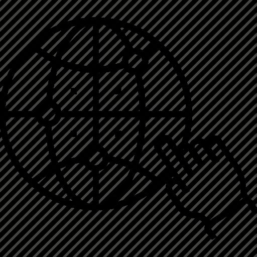 configuration, dns, domain, website, www icon