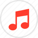 audio, music, note, online, play icon
