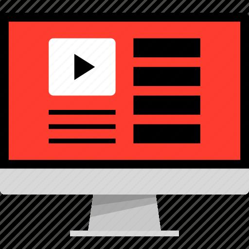 play, playlist, youtube icon