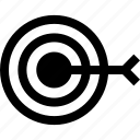 bulls, eye, goal, hit, target icon