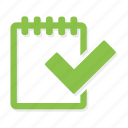 calendar, check, cheklist, positive, tasks icon