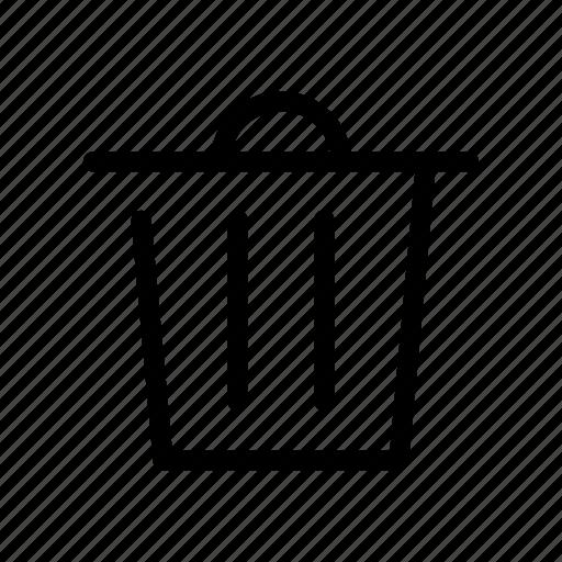 buy, e commerce, market, shop, trash, trash can icon