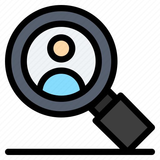 research, search, user icon