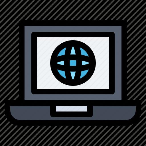 Globe, internet, laptop, world icon - Download on Iconfinder