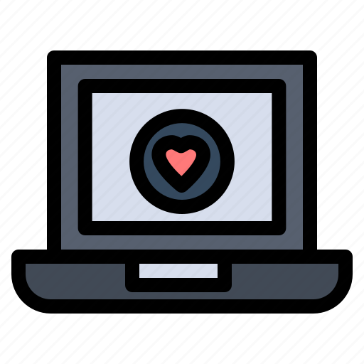 Computer, heart, laptop, love icon - Download on Iconfinder